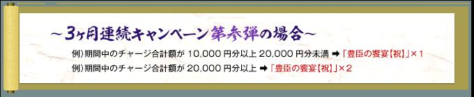 ~3ヶ月連続キャンペーン第弐弾の場合~