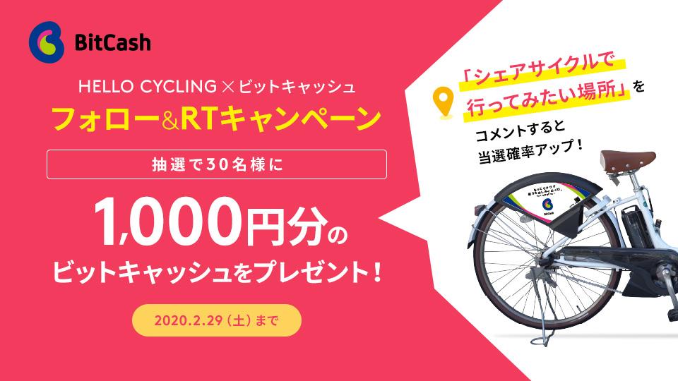 HELLO CYCLING×ビットキャッシュ フォロー&RTキャンペーン