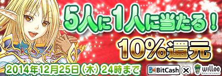 ウィローエンターテイメント×ビットキャッシュ クリスマス&年末年始キャンペーン!