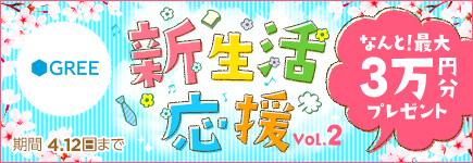GREE×BitCash 新生活応援キャンペーン Vol.2