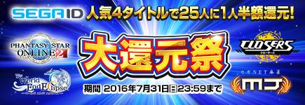 SEGA ID×ビットキャッシュ オンラインゲーム大還元祭